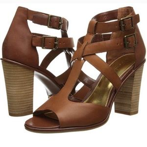 Lauren Ralph Lauren Octavia Leather Heeled Sandals